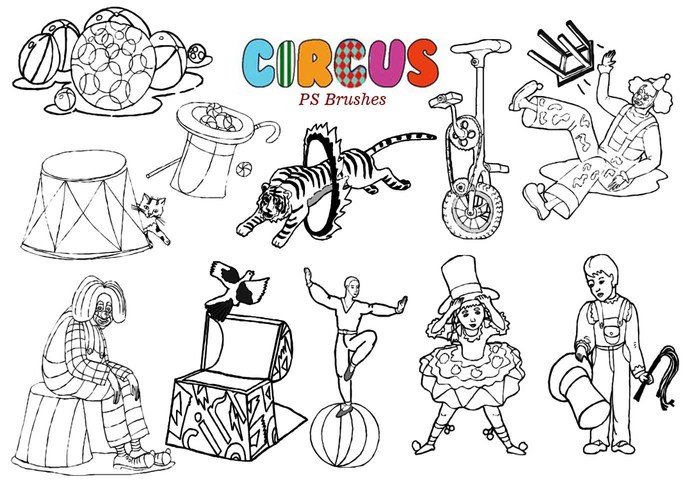 20 Circus Ps Brushes
