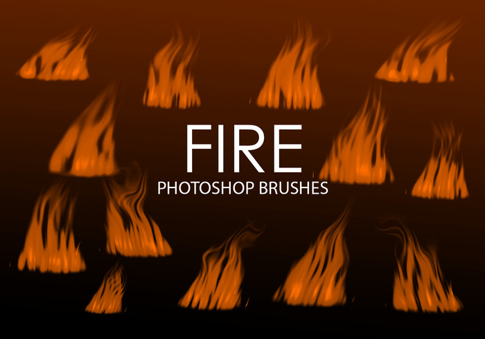 Free Digital Fire Photoshop Brushes 3