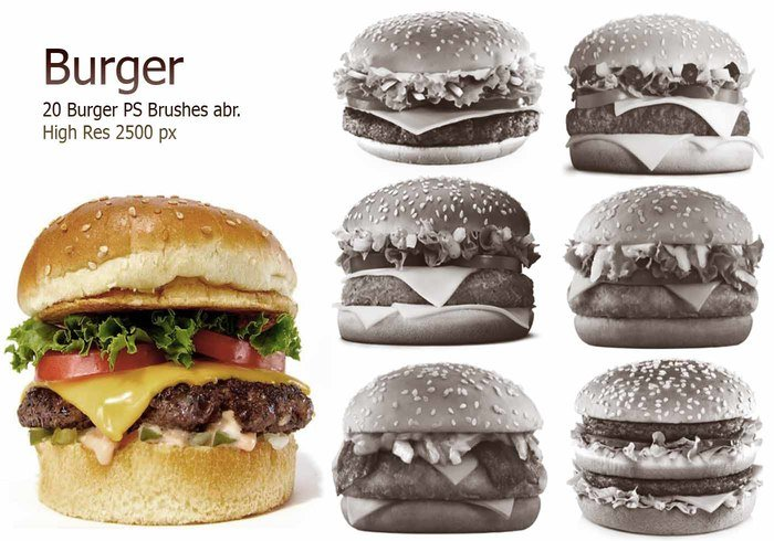 20 Burger PS Brushes abr. Vol.2