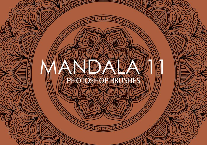 Escovas gratuitas do mandala photoshop 11