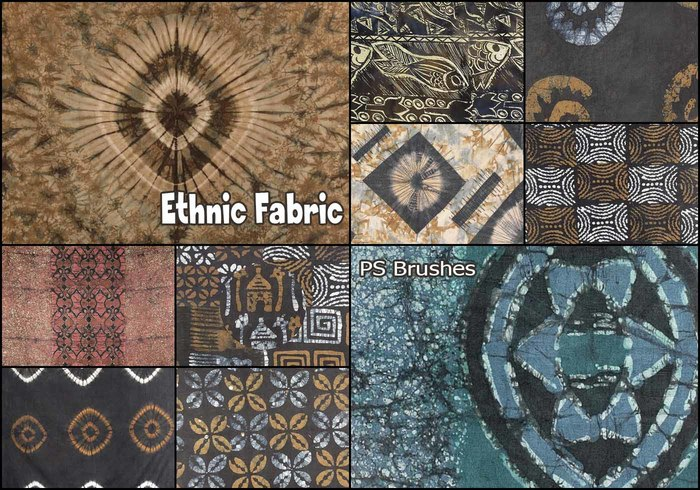 20 brosses de tissu ethniques PS abr.