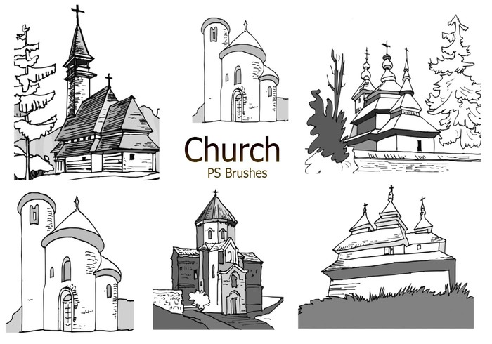 20 Sketch Church PS Brushes abr. vol.4