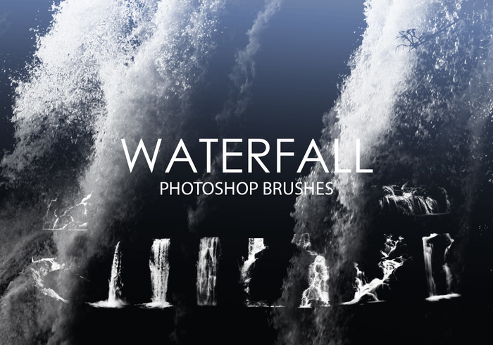 Gratis Waterfall Photoshop Borstels