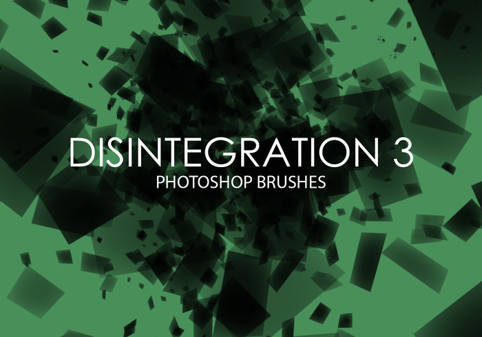 Free Disintegration Photoshop Brushes 3
