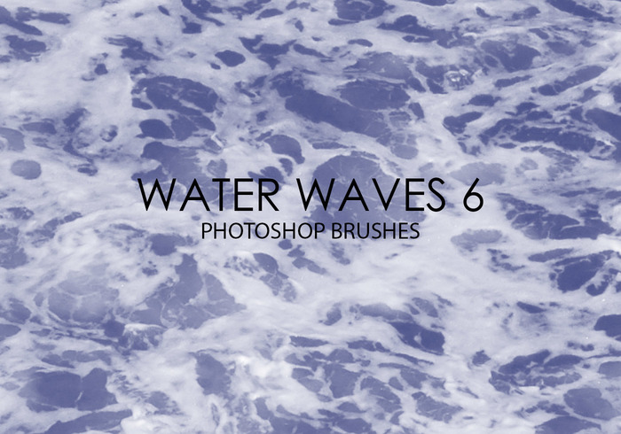 Free Water Waves Pinceles para Photoshop 6