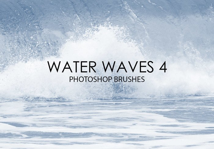 Free Water Waves Pinceles para Photoshop 4