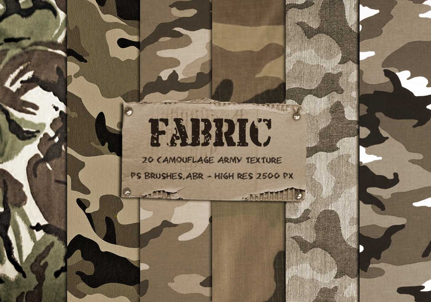 20 Camouflage Fabric Texture Ps Brushes Free Photoshop