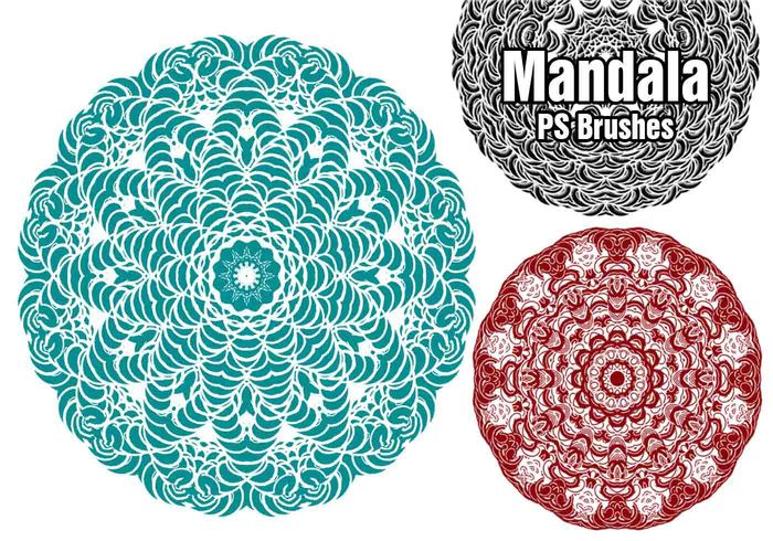 20 Mandala PS Brushes abr. Vol.3