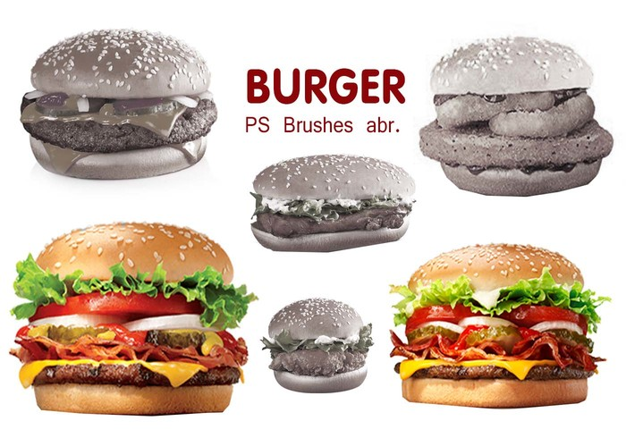 20 Burger PS Brushes abr. vol.3