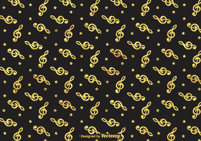 Golden Violin Key Pattern