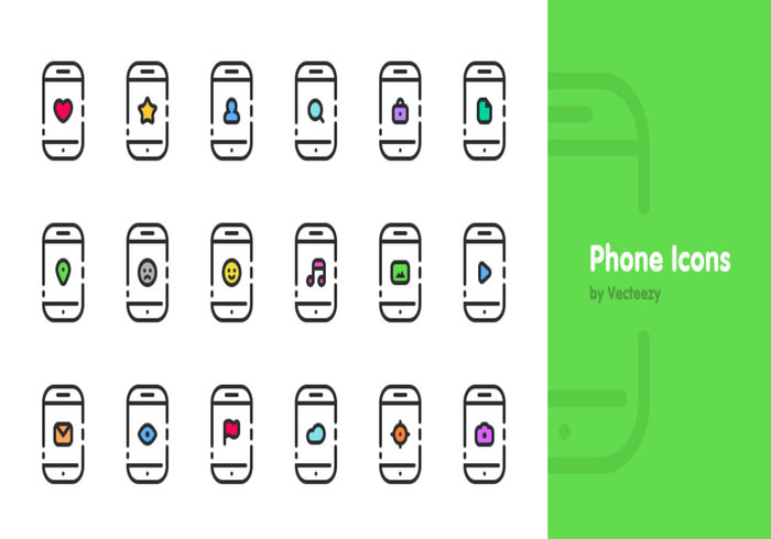 Simple PSD Phone Icons