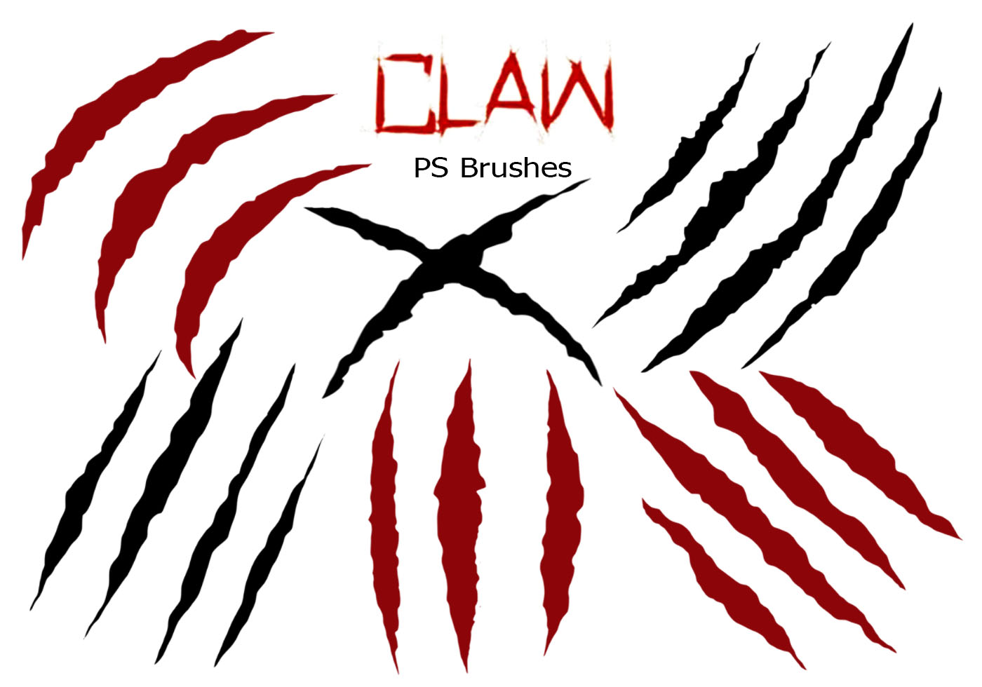 Claw marks through paper