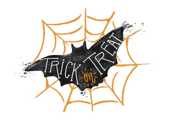 Trick oder Treat Bat Aquarell PSD