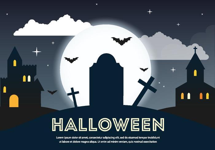 Furchtsamer PSD Halloween Friedhof