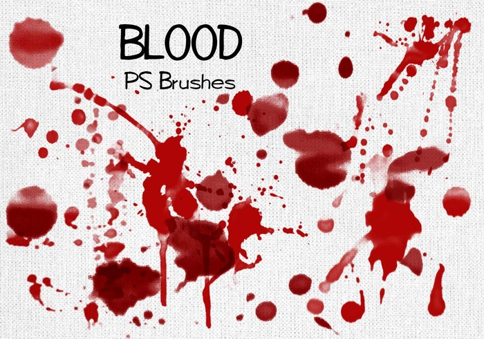 20 Blood Splatter PS Brushes abr vol.3