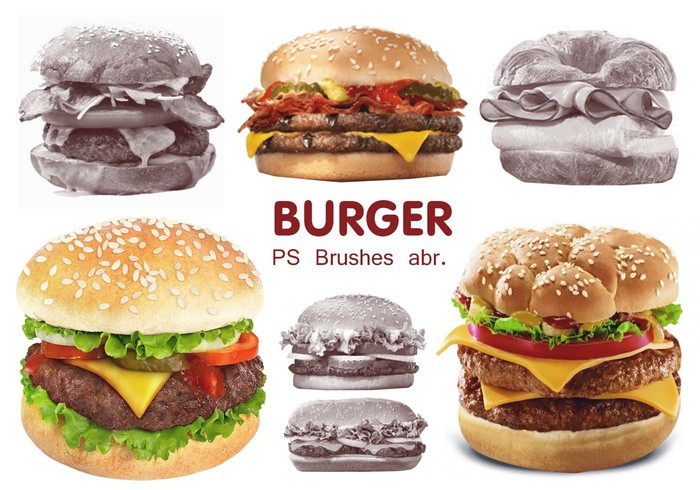 20 Burger PS Brushes abr. Vol.4