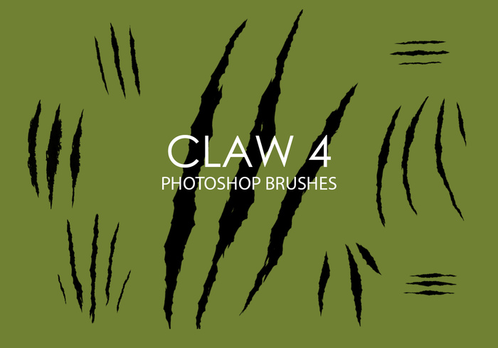 Free Claw Photoshop Brushes 4