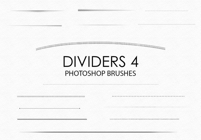 Free Hand Drawn Dividers Pinceles para Photoshop 4