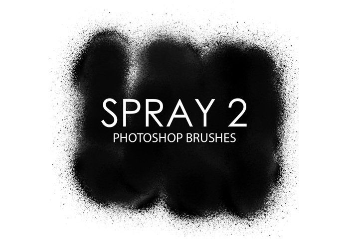 Escovas gratuitas do photoshop de spray 2