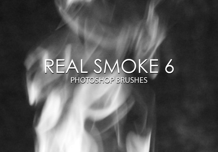 Free Real Smoke Pinceles para Photoshop 6