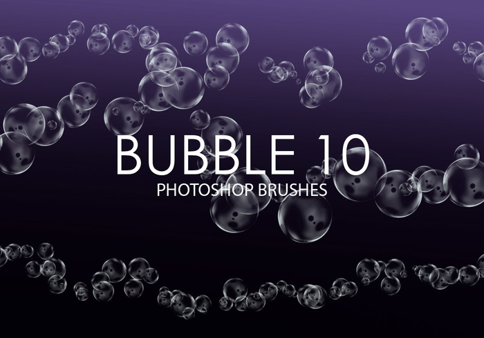 Free Bubble Pinceles para Photoshop 10