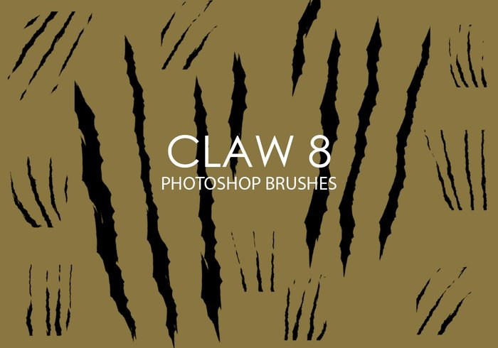 Free Claw Photoshop Brushes 8