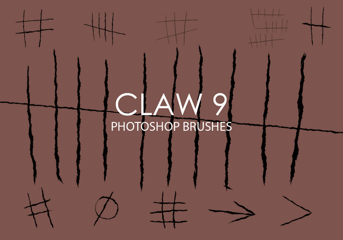 Free Claw Photoshop Brushes 9