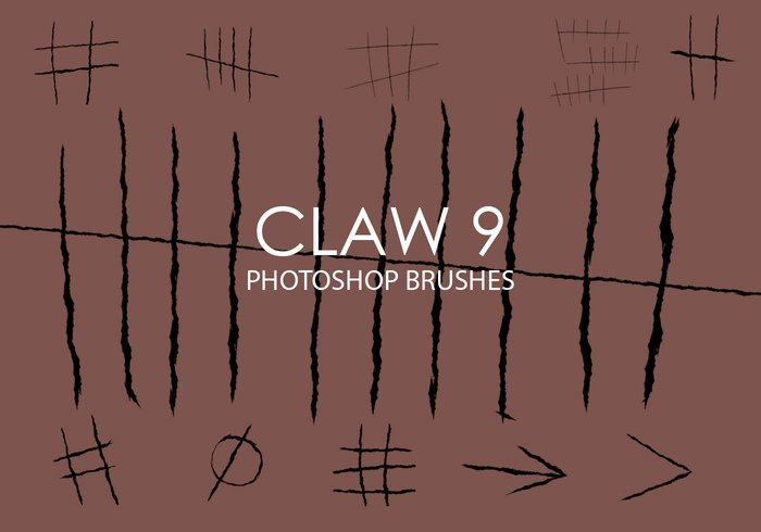 Gratis Claw Photoshop Borstels 9