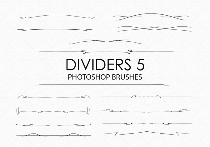 Free Hand Drawn Dividers Photoshop Borstels 5