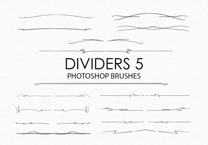 Free Hand Drawn Dividers Photoshop Borstar 5
