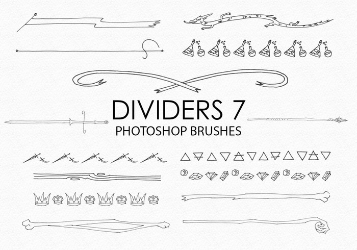 Gratis Handgetekende Dividers Photoshop Borstels 7