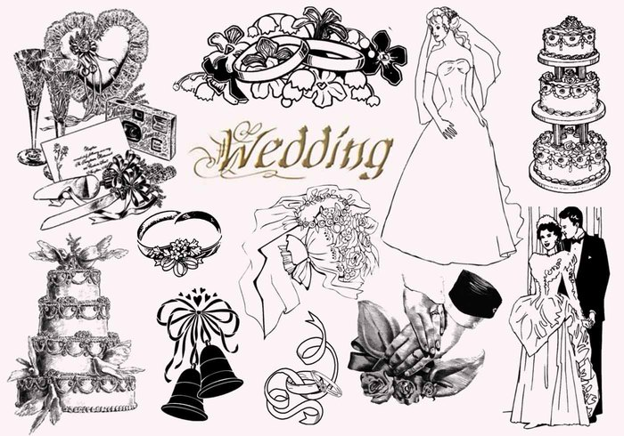 20  Vintage Wedding PS Brushes abr