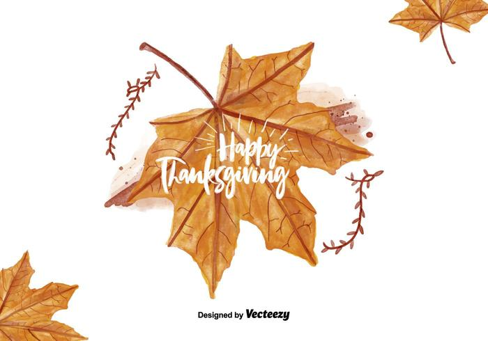 Thanksgiving Leaf Akvarell PSD