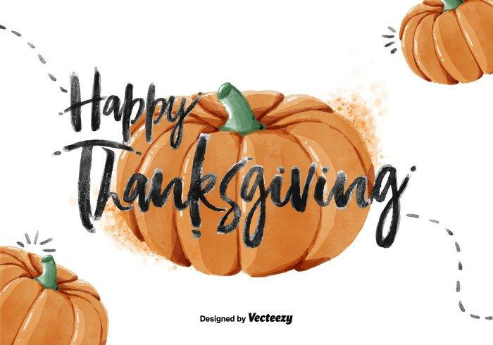 Thanksgiving Pumpkin Watercolor PSD