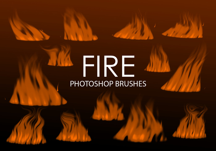 Free Digital Fire Photoshop Brushes 2