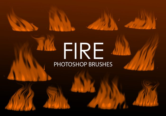 Gratis Digital Fire Photoshop Borstels 2