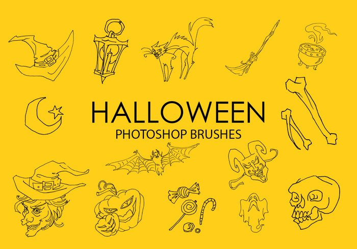 Gratis Halloween Photoshop Borstels