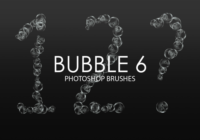 Free Bubble Pinceles para Photoshop 6
