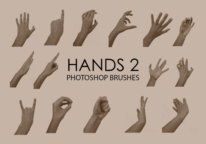 Free Hand Photoshop Brushes 2