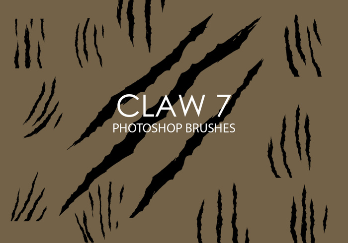 Free Claw Photoshop Brushes 7