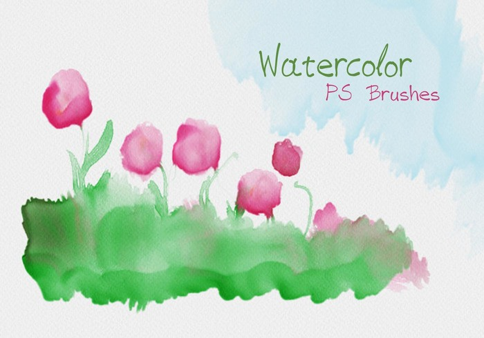20 Watercolor Mask PS Brushes abr.Vol.9