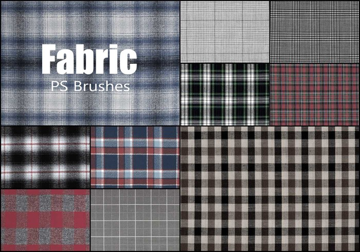 20 Fabric Plaid Texture PS Brushes abr.vol.18