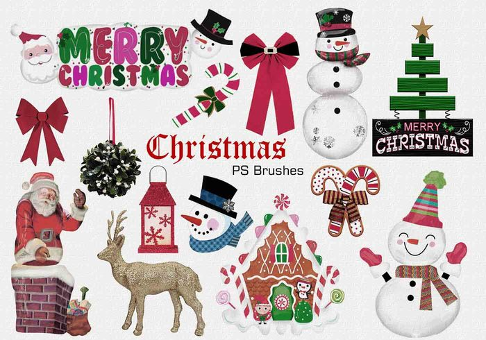 20 Christmas PS Brushes abr. Vol.3