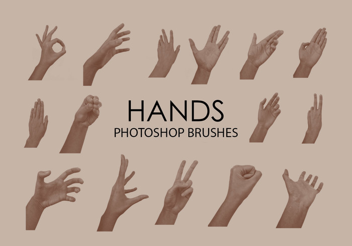 Free Hands Photoshop Brushes