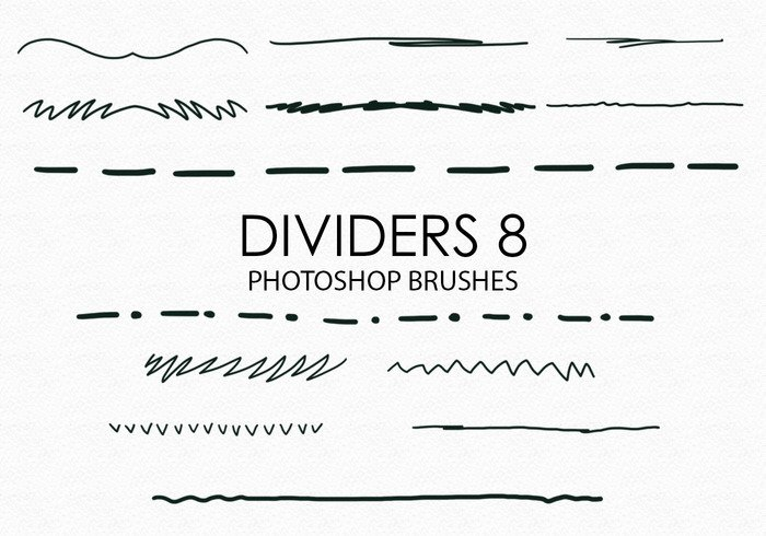 Free Hand Drawn Dividers Photoshop Brushes 8