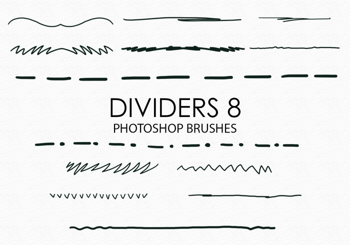 Gratis Handgetekende Dividers Photoshop Borstels 8