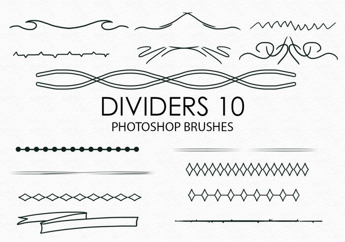 Free Hand Drawn Dividers Photoshop Borstar 10