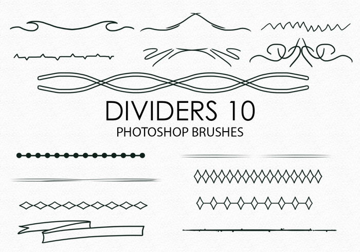 Gratis Handgetekende Dividers Photoshop Borstels 10