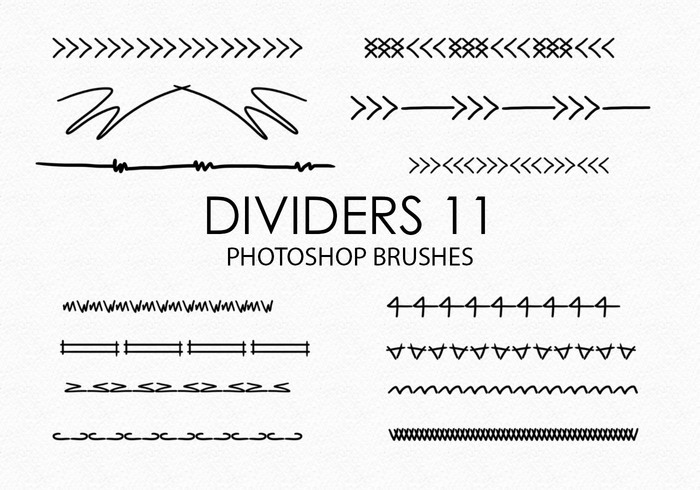 Gratis Handgetekende Dividers Photoshop Borstels 11