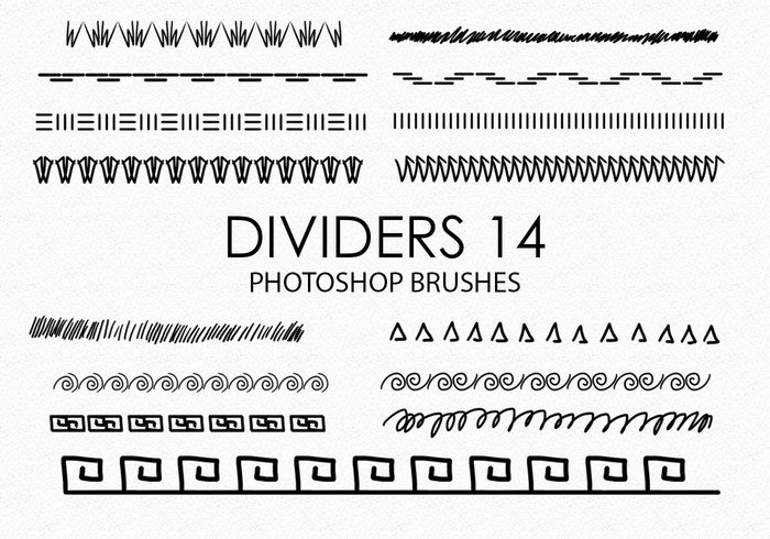Free Hand Drawn Dividers Pinceles para Photoshop 14